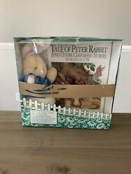 The Tale Of Peter Rabbit Cherished Stories Book And Plush 1986 Beatrix Potter Rare