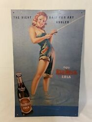 """Vintage 1992 Red Rock Cola Metal Advertising Sign Made In The Usa 10x16"""""""