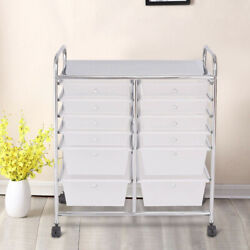 Storage Rolling Cart 12 Drawers Organizer For Home Classroom Art Studio Awesome