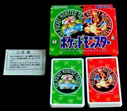 Pokemon Playing Cards Red And Green Nintendo Poker Card 1995 Very Rare Charizard ④