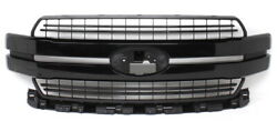 Oem Ford F150 Lariat Grille Jl3z-8200-jn Shadow Black -2 Clips Missingscratch