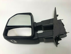 Tow Mirror 2015 2018 Ford F150 Driver Side Power Fold Heat Blind Spot - Cracked