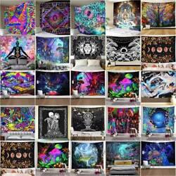 Psychedelic Hippie Trippy Tapestry Wall Hanging Blanket Living Room Art Decor