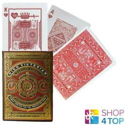 High Victorian Red Theory11 Luxury Playing Cards Deck Magic Tricks Peal New