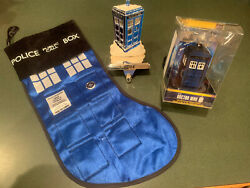Doctor Who Christmas Ornament, Stocking And Stocking Holder