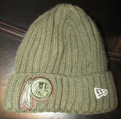Nfl Washington Redskins Salute To Service Winter Knit Hat Team Issued By New Era