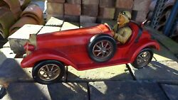 Antique Vintage Model Of The Race Car Collector Bugatti Playroom Home Collector
