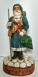 Early Antique Belsnickle German Christmas Santa St Nickolas 11 Candy Container