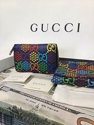 Gg Psychedelic Zip Around Card Case Wallet Sold Out Discontinued Item New
