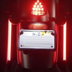 Custom Dynamics Red Color 14 Led Plasma Rods Plug-n-play Indian Touring 15-20