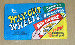 1970 Topps Way-out Wheels Sealed Wax Pack Vintage