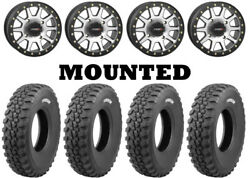 Kit 4 Tensor Ds30 Tires 30x10-15 On System 3 Sb-3 Beadlock Machined Wheels Can