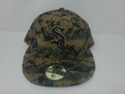 Chicago White Sox New Era 59fifty 5950 Camo Hat Fitted 6 7/8 Digital Usmc