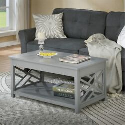Coventry 36 Gray Wood Coffee Table And Two End Tables With Tray Set Of 3