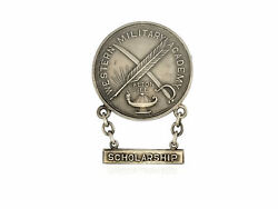 Sterling Silver Vintage Scholarship Western Military Academy