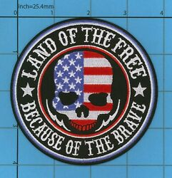 Biker Land Of The Free Patch Iron Or Sew On Motorcycle Vest Because Of The Brave