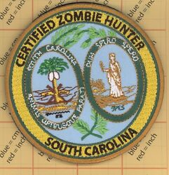 Zombie Hunter Patch State Of South Carolina Seal Response Team Outbreak Army Us