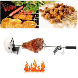 Electric Motor Rotisserie Grill Bbq Kit Spit Rod Stainless Steel Camping 5kg Usa