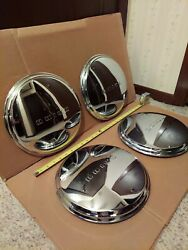 1941-48 Buick Dog Dish 11 Od Hubcaps Wheel Covers Set X4 Oem Deluxe Special