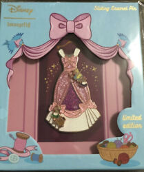 Flawed Loungefly Cinderella 70th Anniversary 3 Pin Le 500 Pink Dress