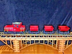 Lgb 2061 Diesel Locomotive 3 4043 Red Tipping Wagons Original Boxes G Scale