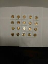 20 Sacagawea Dollar Coins Uncirculated Mostly 2000 P Some Are Beautifully Toned