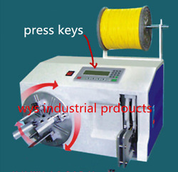 Semi Automatic Binding Wire Winding Cable Coil Machine Tying Tieing Winder