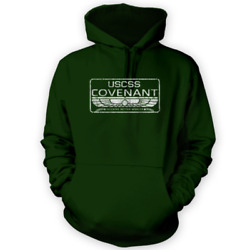 Uscss Covenant Hoodie -x12 Colours- Gift Present Movie Prop Space Sci-fi