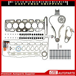 Head Gasket Set W/ Timing Chain Bolts Kit For 02-07 Chevrolet Gmc 4.2l