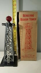 Louis Marx And Co Metal Revolving Beacon Light With Box Vintage