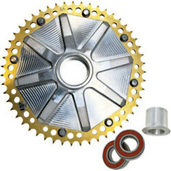 Alloy Art 51 Tooth Gold Cush Drive Chain Conversion Sprocket Harley Touring 09+