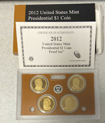 2012-s Us Presidential Dollars Proof Set With Box And Coa // Key Date