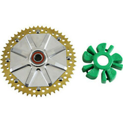 Alloy Art 53 Tooth Gold Cush Drive Chain Conversion Sprocket Harley Touring 09+