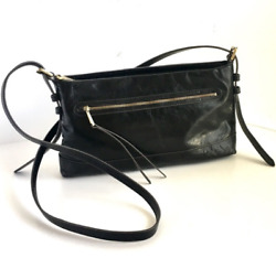 NEW Hobo Bags Supersoft Genuine Leather Tobey Crossbody Black $69.99