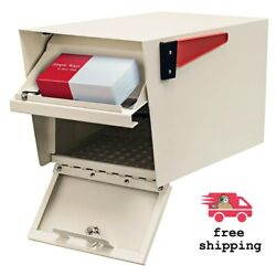 Post-mount Off White Mailbox Parcel Manager Mail Boss Locking High Security Lock