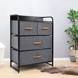 Dresser 4 Drawer Closet Cabinet Storage Chest Organizer Home Bedroom Furniture