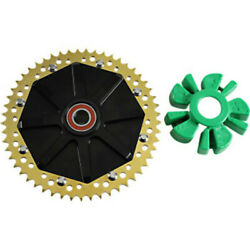 51 Tooth Gold Anodized Cush Drive Chain Conversion Sprocket Harley Touring 09+