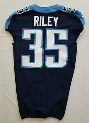 35 Curtis Riley Of Tennessee Titans Nfl Locker Room Game Issued Jersey