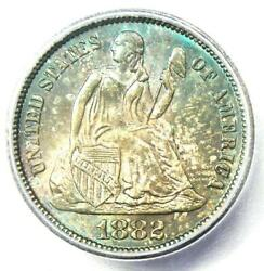1882 Seated Liberty Dime 10c Coin. Certified Icg Ms66+ Plus Grade - 1000 Value