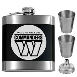 Pittsburgh Steelers 4 Pc. Gift Set Engraved Stainless Steel Gift Flask Bottle
