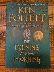 *SIGNED* Ken Follett The Evening and the Morning Hardcover $56.00