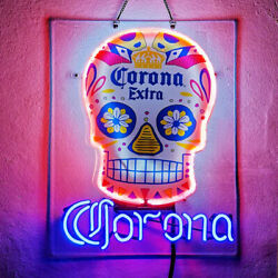 Neon Signs Gift Corona Extra Beer Bar Pub Party Room Wall Window Diaplay 19x15