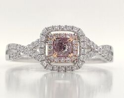 Adorable Natural Intense Fancy Pink Untreated Diamonds Ring Hd Video