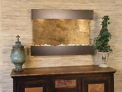 Reflection Creek-silver Vein-multi-color Featherstone Wall Fountain New