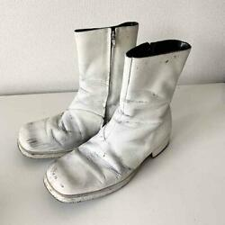 Martin Margiela 10 Square Toe Paint Boots Size 40 Free Shipping From Japan