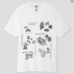 New Uniqlo X Super Mario Bowser Vs. Tee Shirt Ut Sold Out 35th Anniversary Xs