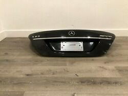 07-2013 Mercedes Benz Amg S63 S400 S550 Rear Trunk Lid Shell Assembly Black Oem
