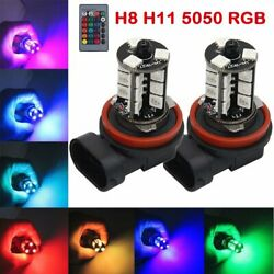 Multi-color Rgb 9005 Led Bulbs For Fog Light Driving Lampwith Wireless Remote