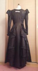 Alice Auaa Made To Order Leather Dress Gothic Lolita Size 3 Used F/s From Japan