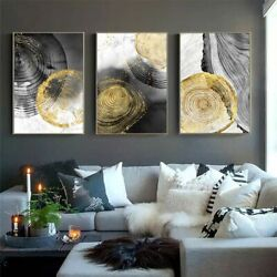 Black Ink Annual Ring Abstract Art Canvas Poster Nordic Wall Painting Print